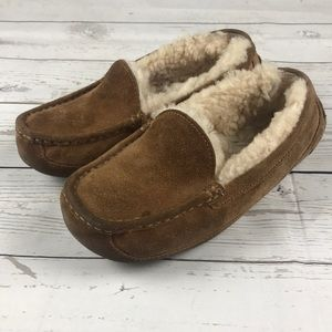 UGG Australia Abbey Suede Slip on Shoes Moccasins